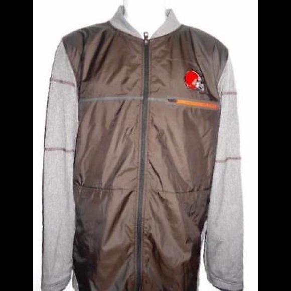 Browns Nike NFL Men s Shield On Field Jacket Sz. S 2f7bc7f75